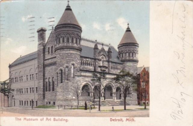 Michigan Detroit Museum Of Art Building1907