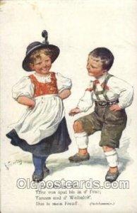 B.K.W L. 564-3 Artist Signed K. Feiertag (AUS) Unused minor corner wear, yell...