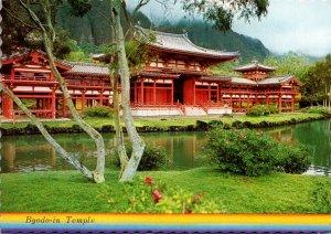 Hawaii Oahu Byodu-in Temple On Back Side Of Koolau Range