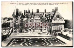 Old Postcard Langeais Chateau Constrult by order of Louis XI