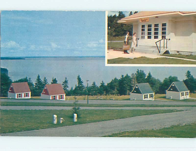 Unused Pre-1980 ALPINE CHALET MOTEL AT BAY OF FUNDY Alma New Brunswick NB o0277
