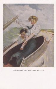 Couple, sail boat,  restless waves, Des Meeres Und Der Liebe Wellen, 10-20s
