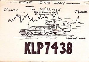 CB QSL - KLP7438, The Willitt's, E Syracuse NY