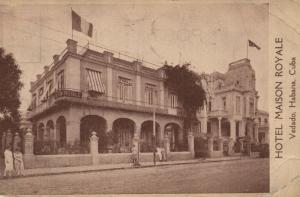 CUBA HABANA VEDADO HOTEL MAISON ROYALE 1924 ANTIQUE POSTCARD