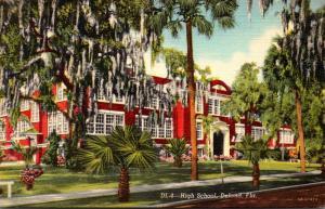 Florida Deland High School Curteich