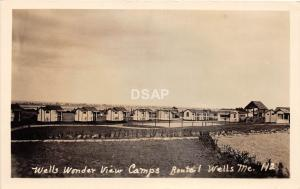 B68/ Wells Maine Me RPPC Real Photo Postcard 1934 Wonder View Camps Route 1