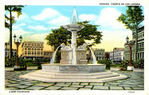 Cuba - Havana. Lions Fountain
