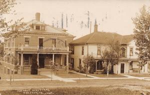 Creston Iowa~Cottage Hospital~House Next Door~1909 Real Photo Postcard~RPPC