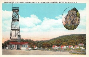 LPS71 White Mountains New Hampshire Observation Tower Franconia Notch Postcard