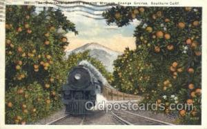 The Overland Limited, CA, California, USA Train Railroad Station Depot Postca...