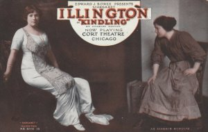 CHICAGO, Illinois, 1900-10s ; Cort Theatre, Play KINDLING, Margaret Illington