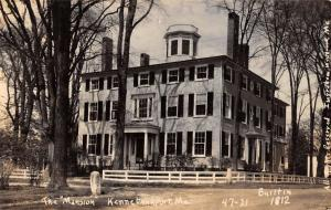 Kennebunkport Maine The Mansion Historic Real Photo Antique Postcard K12736