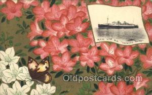 S.S. Tatsuta Maru N.Y.K. Nippon Yusen Kaisha Ship Unused light yellowing on b...