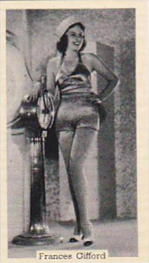 Murray Sons Cigarette Card Bathing Belles No 37 Frances Gifford