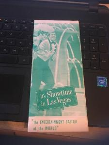 It's Showtime in Las Vegas Brochure, Late 60s whats playing where on the strip