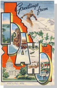 Beautiful Idaho/ID Postcard, Greetings/Multi View