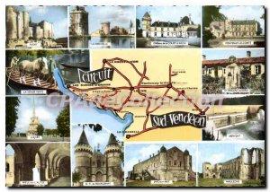 Postcard Modern Circuit SOUTH VENDEEN Niort venice green luon Rochelle Merven...
