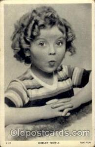 Shirley Temple Actor / Actress Postcard Post Card Old Vintage Antique Actor A...