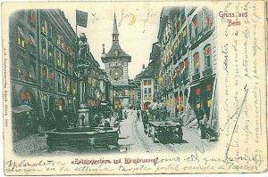 Ansichtskarten Schweiz VINTAGE POSTCARD: SWITZERLAND - GRUSS AUS: BERN 1902