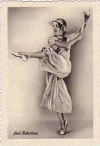 GARBATI CIGARETTE CARD FAMOUS DANCERS NO 190 MARIA SOLVEG