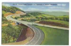 PA Turnpike Bedford Interchange Linen 1948 Curteich