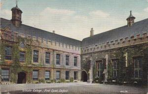 Lincoln College, First Quad, Oxford (Oxfordshire), England, UK, PU-1910