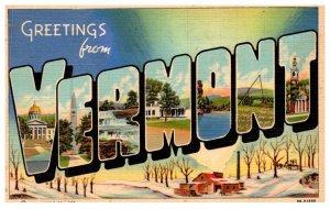 Vermont LARGE LETTER