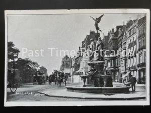 c1907 - London: Park Lane near Green Lane - showing many carraiges