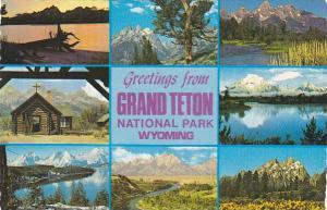 Greetings From Grand Teton National Park Wyoming Multi View