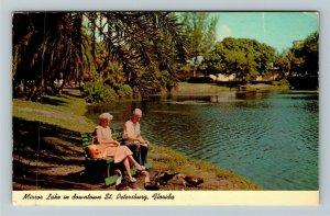 St Petersburg FL-Florida, Mirror Lake, Downtown, Chrome c1969 Postcard