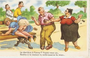 Chaperon Jean. The last one to Fanny?...· Humorous vintage French PC