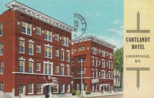 LOUISVILLE, Kentucky, 1940 ; Cortlandt Hotel