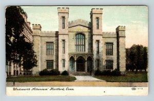 Hartford CT, Wadsworth Atheneum Museum, Vintage Connecticut Postcard X32