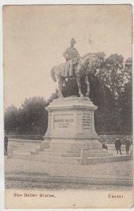 Devon; The Buller Statue, Exeter PPC By Mezzotint Co, 1913, To G Foard, Slindon