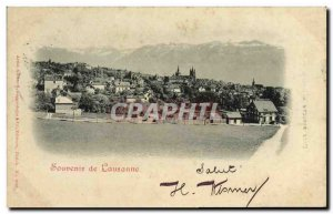 Old Postcard Switzerland Lausanne Map 1899