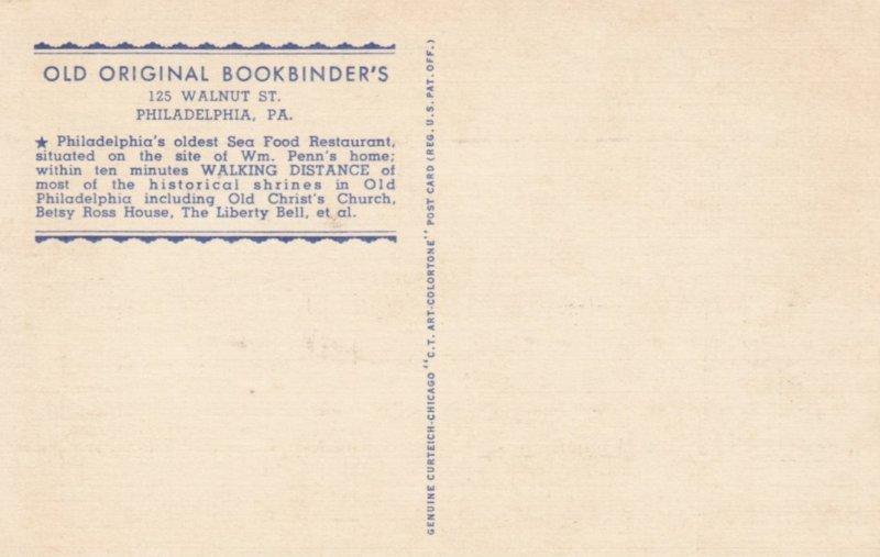 PHILADELPHIA , Pennsylvania , 1930-40s ; Old Original Bookbinders