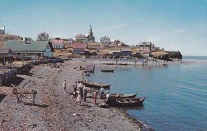 Row Boats on the Gaspe North Shore, La Gaspesie, Cloridorme, Quebec, Canada, ...