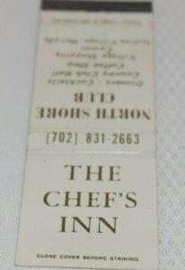 The Chef's Inn North Shore Club Incline Village Nevada 20 Strike Matchbook Cover