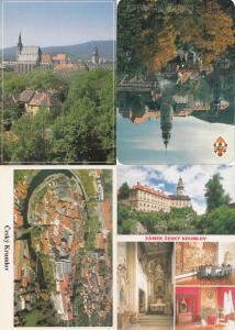 Cesky Krumlov 4x Czech Republic Postcard s