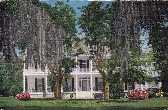 Mississippi Natchez Elgin Plantation