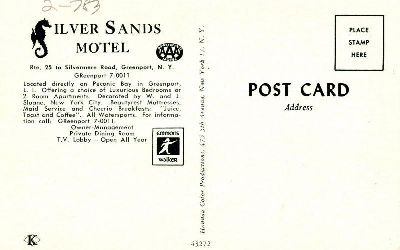 NY - Greenport. Silver Sands Motel