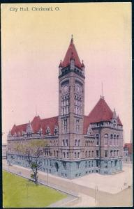 City Hall Cincinnati Ohio unused c1910