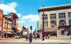 Norfolk VA Church & Brambleton Ave. Storefronts Trailer Truck Postcard