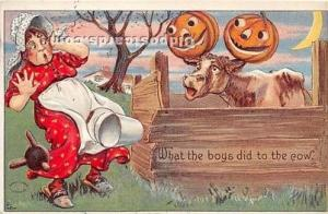 Halloween Postcard Old Vintage Post Card Halloween Series 980 1910