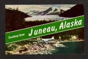 AK Greetings from JUNEAU ALASKA Postcard Plane