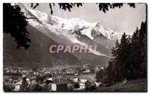 Old Postcard Chamonix Vue Generale and Mont Blanc