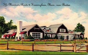 Massachusetts Framingham The Meadows Restaurant Route 9 1950