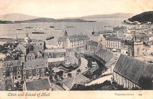 Scotland, UK Old Vintage Antique Post Card Oban and Sound of Mull Unused