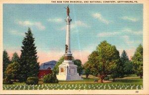 Pennsylvania Gettysburg New York Memorial and National Cemetery