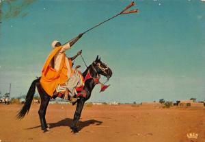 Republique du Niger Joueur de Trompette Haoussa Horse Postcard